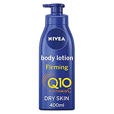 NIVEA Firming Body Lotion Q10 + Vitamin C (400ml), Nourishing Firming Cream with Q10 & Vitamin C, NIVEA Soft Moisturising Cream for Firm Skin