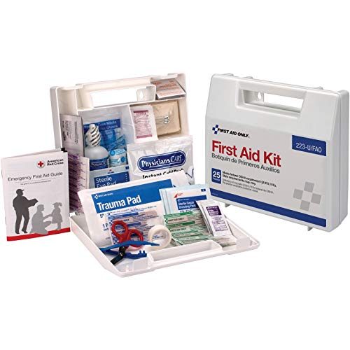 first aid only made first aid kits First Aid Only 223-U 25 Person Bulk First Aid Kit, 106-Piece Kit, White