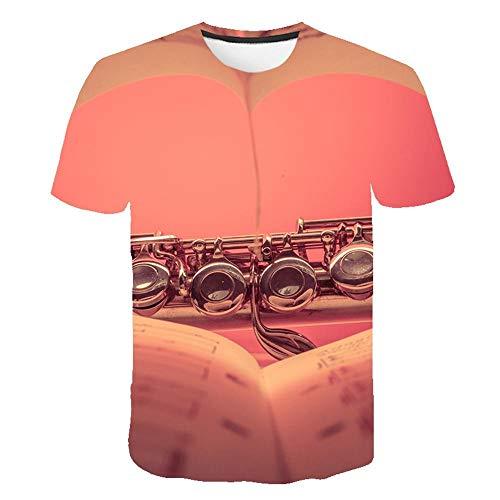 3D Guitare Drôle T Shirt Bébé Enfants Rock Band Vintage Graphique Musique Nouveauté Streetwear Garçons T Shirt Enfant Vêtements Hauts,Couleur 18 6T