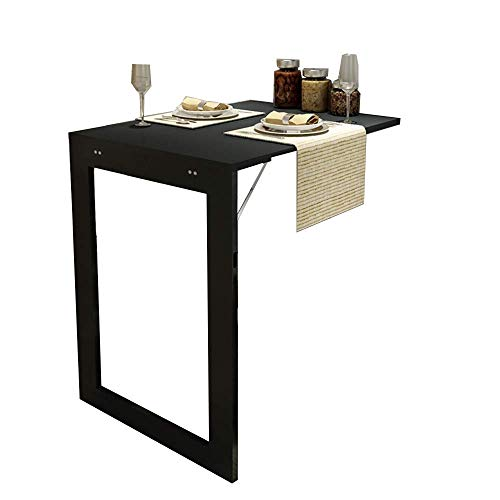 ZAQI Wandklapptisch Wand befestigter Klapp Cabrio Tisch, Schwarz Heavy Duty Studie Schreibtisch, Laptop-PC Tabellen Workstation, Laden 150 Kg (Size : 74×45×75cm)