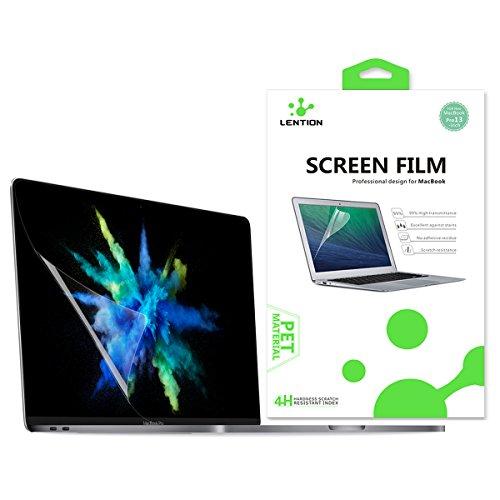 lention Clear Screen Protector kompatibel mit MacBook Pro (13 Zoll, 2016-2020), Modell A1706 / A1708 / A1989 / A2159, HD Schutzfolie mit hydrophober oleophober Beschichtung