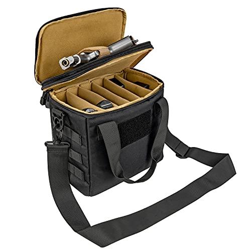 ProCase Tactical Gun Range Bag, Deluxe Padded Pistol...