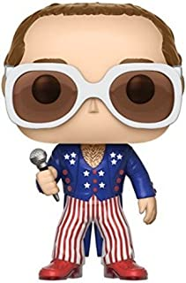 elton john red white and blue outfit