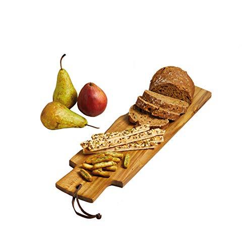 Kitchen Craft Master Class Artesa Akazien-Baguette-/Servierbrett, Holz, Braun, 48 x 13 x 1.5 cm