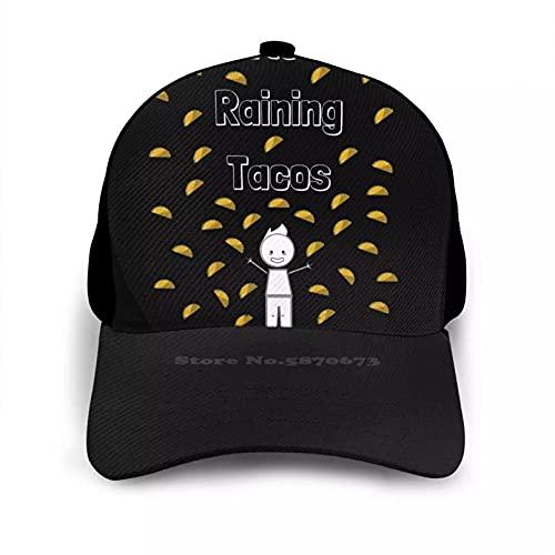 OEWFM Gorra de Beisbol Raining Tacos Boy Dad Mom Gorra béisbol Amigo Regalo Tacos Comida para niños Videojuegos Divertidos para niños Comida It's Raining Tacos Regalo