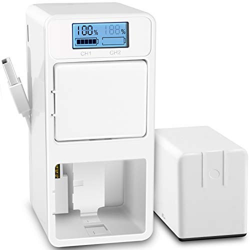 UKor Arlo Pro Batteries Charger Station, Dual Batteries Charging Dock Station for Arlo Rechargeable Battery, Arlo Pro/Pro 2(VMA4400), Arlo Go(VMA4410) Camera Batteries.