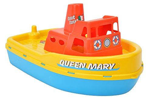 Simba 107259644 - Dampfer Queen Mary, es wird nur ein Artikel geliefert, verschiedene Farbkombinationen, mit Pfeife, Länge 39cm, Sandkasten, Sandspielzeug