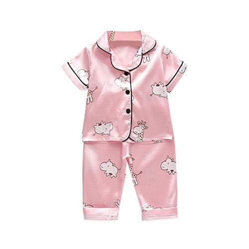 Julhold Conjunto de pijama para bebé recién nacido para niñas con dibujos animados y pantalones