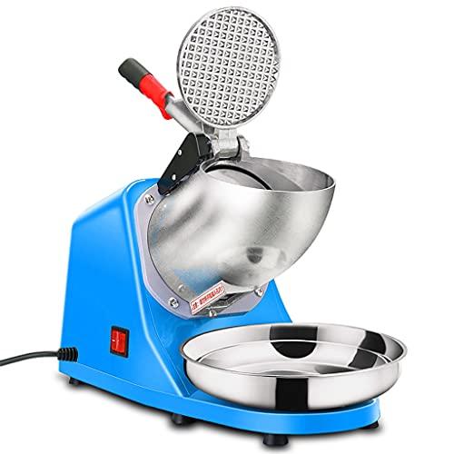 Eiscrusher, Eiswürfelmaschinen, Doppelklingen Elektrische Handelsübliche Ice Crusher Machine aus Rostfreiem Stahl, Schneekonusmacher, für den Heimgebrauch im Party-Restaurant, Blau