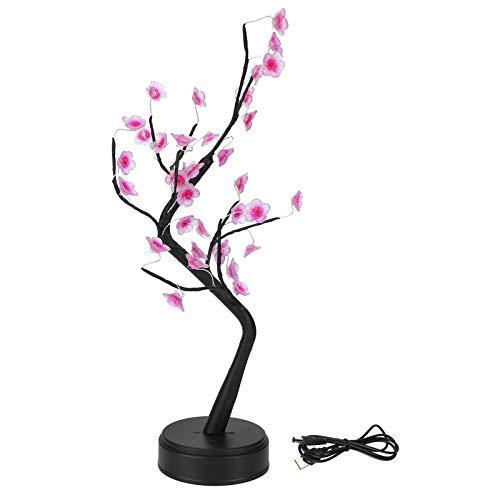 Lámpara de árbol Bonsai, USB 35LED Flor de Ciruelo Bonsai Árbol de luz DIY Lámpara de luz de Escritorio Hogar Navidad Decoración de Vacaciones Lámpara Nocturna