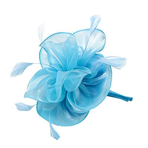 Sombrero Fascinador De La Boda Mujeres Flor del Pelo Banda para El...