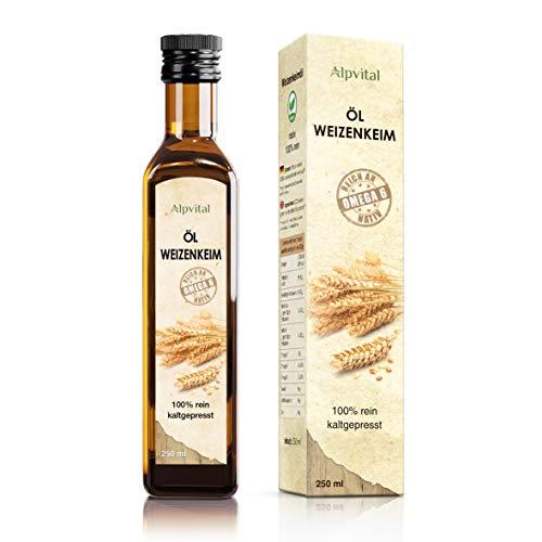 Weizenkeimöl 100 % rein kaltgepresst 250 ml - vegan - reichhaltig an Vitamin E und Spermidin