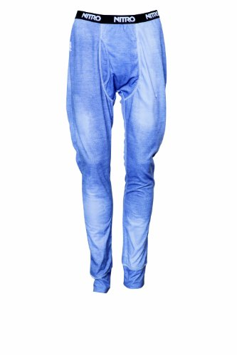 Nitro Snowboards Herren Funktions Unterwäsche 1st Layer Long Jons Pants 14, Denim Print, L, 1141-872110