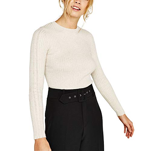 Raya Jerséis Mujer Invierno Blanco Negro Tumblr Moda Casual Sueter Jersey Pullover Ropa