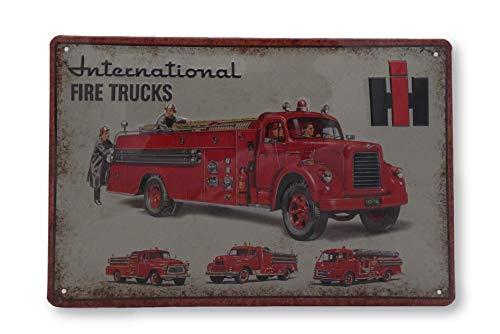 Meer reliëfborden hier... IHC brandweer International vrachtwagen tractor landbouw blikken schild-reclame-reclame reclame retro merk bord magneet-metalen schild-reclamebord wandbord