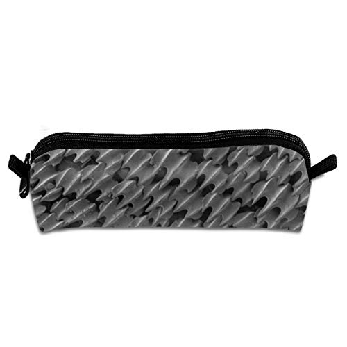 OLGCZM Shark Skin Microscope Pencil Case,Pen Bag for Pens, Pencils, Highlighters, Gel Pen, Markers and Other School Supplies