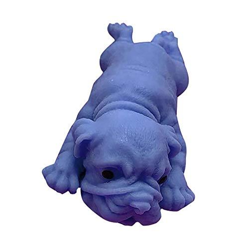 MARIJEE Juguetes lentos para cachorros de simulación para aliviar el estrés, juguete de apriete blando, suave perfumado, juguetes de levantamiento lento, regalos para niños y adultos (azul)