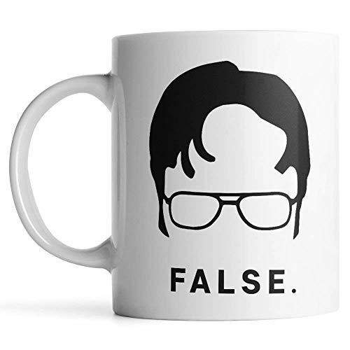 Funny Coffee Cup Ceramic Coffee Mug PaPa Mugs Dwight Schrute Coffee Mug Dad Mug Office Mug Man mug Father mug Worlds best boss mug( White,11ounces)