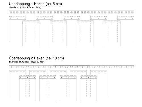PVC Streifenvorhang Lamellen 2x200mm – H2,00 x B1,05 m – fertig vormontiert – VZ - 3