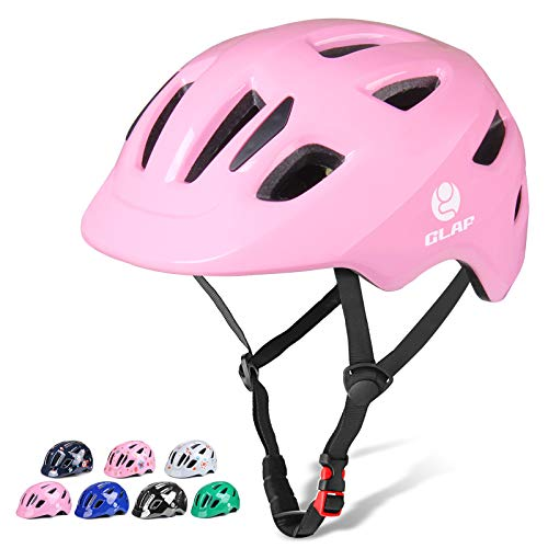 GLAF Kids Bike Helmet Multi-Sport Adjustable Helmet Boys Girls for Skating Cycling Scooter Bicycle Skateboard Helmet Toddler Bike Helmet (Pink, S-M)
