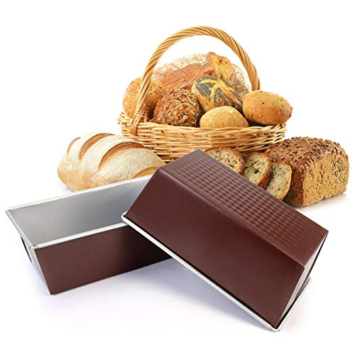 CONSTR Non-stick Carbon Steel Cake Bread Loaf Pan Toast Box Mold Kitchen Baking Tool – Bread Mold Baking Mold – Kitchen Baking Tool 8Inch