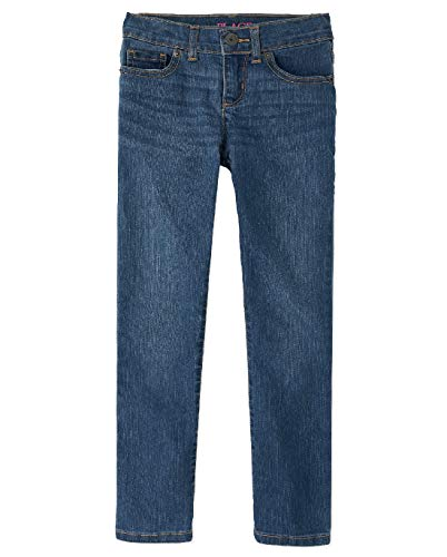The Children's Place Girls' Basic Skinny Jeans Md Lara Wash 6X/7