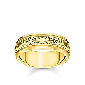 THOMAS SABO Unisex Ring Ornamente Gold 925 Sterlingsilber, 750 Gelbgold Vergoldung TR2277-413-39