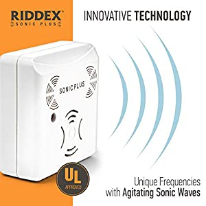 Riddex Sonic Plus Ultrasonic Pest Repeller, Plug in with Outlets for Indoor Use - Insect Repellent - Bug Repellents for Home Defense - Protect Against Rodents and Insects, Chemical Free (3 Pack)