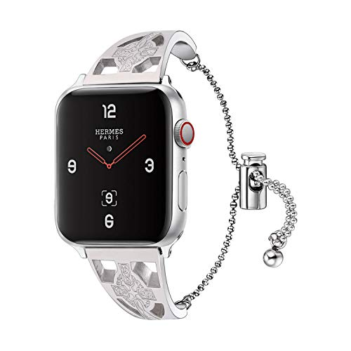 Bandmax Bling Bands Compatible with Apple Watch 38mm 40mm,Infinity Hollow Celtic Knot Watch Band Stainless Steel Women Jewelry Bracelet Wristband Compatible for Series 6/5/4/3/2/1 iwatch Straps