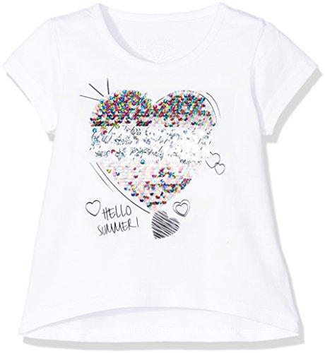 Losan Mädchen T-Shirt 816-1208AD Weiß (Blanco 001) 5 Jahre