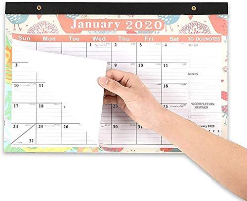 CALENDAR 2017 Calendarios 2021 2021 Calendario, Calendario de Pared Laminado Anual Grande, para planificador mensual para organizar la planificación, planificación para el hogar u Oficina ZSMFCD