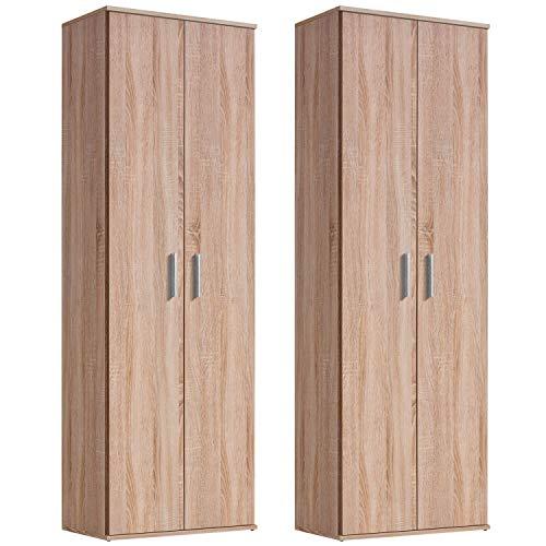 mokebo® Mehrzweckschrank-Sets \'Der Lange\', moderner Aktenschrank oder Schrank, Made in Germany, Sonoma Eiche -69