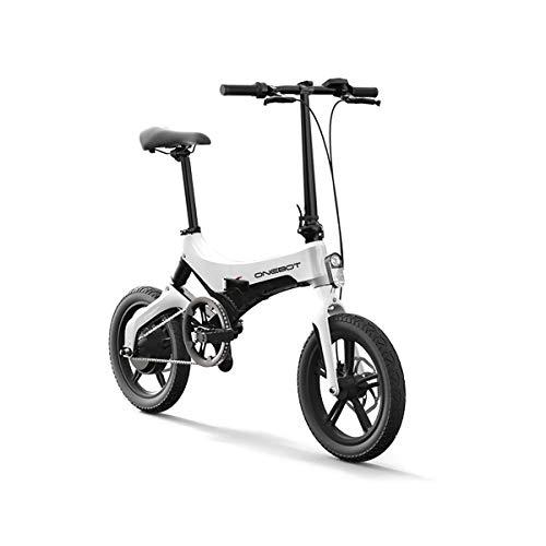 onebot Bicicleta eléctrica Plegable S-6 (Blanca)| autonomí