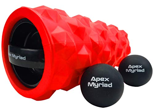 Fantastic Prices! Vibrating Foam Roller High Intensity 3 Speed RECHARGEABLE with TWO Lacrosse Massag...