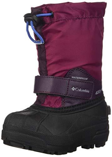 Columbia Powderbug Forty Snow Boot, Wine Berry/Arctic Blue, 4 US Unisex Big Kid