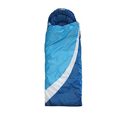 outdoorer DreamSurfer, mitwachsender Schlafsack für Kinder und Jugendliche in blau oder pink - der Jugendschlafsack (blau/weiß)