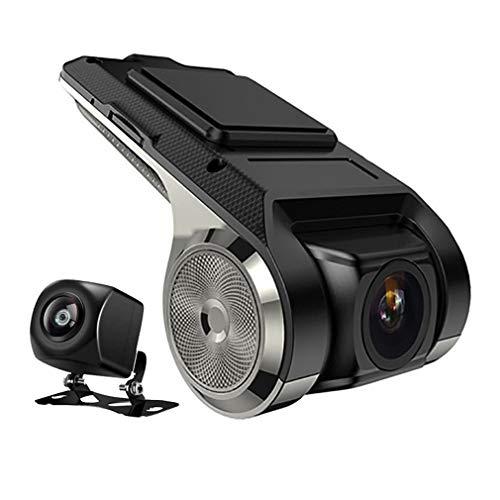 HUATINGRHDC Intelligent Dashcam Autokamera Dual Lens Kamera Full HD 1080P Vorne und 720p Hinten Kamera mit ADAS, G Sensor, WiFi, GPS, Loop-Aufnahme, Parkmonitor, Bewegungserkennung HD