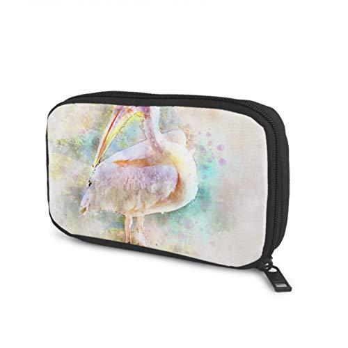 Kabel Aufbewahrungsorganisator Pelican Pink Bird Nature Schnabel Gefiedert Race Travel Kabel Organizer Für Verschiedene USB-Kabel Kopfhörer Ladegerät Reisebüro Elektronische Kabel Organizer Tasche