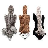 Blnboimrun Dog No Stuffing Toys Dog Squeaky Toys Plush Chewers for Large Dog 3PCS Large Dog Toy Set
