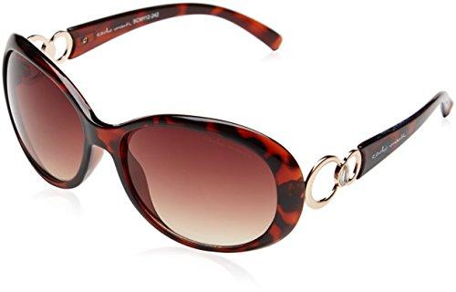 Schöne Marken Sonnenbrille für Damen von Carlo Monti mit 100% UV Schutz | Sonnenbrille mit stabiler Polycarbonatfassung, hochwertigem Brillenetui, Brillenbeutel und 2 Jahren Garantie | SCM112-242
