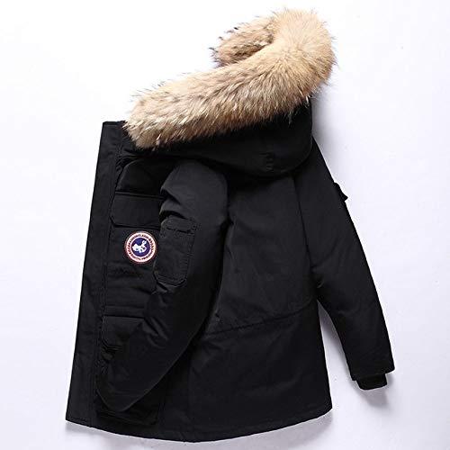 TIANYEAI Daunenjacke Weiße ndaunenjacke Winter Herren Daunenjacke Kurze Kanada Daunenjacke Outdoor Workwear Dicke warme Herren Winterjacke, Schwarz, XL