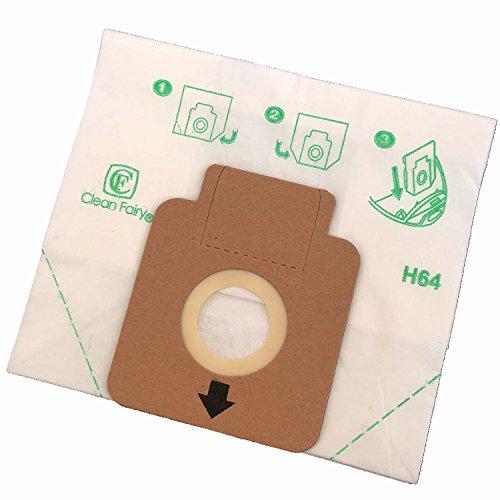 Clean Fairy - Bolsas de papel para aspiradoras tipo Hoover H58, H63, H64, Freespace, Sprint, Flash Cylinders - 20 bolsas
