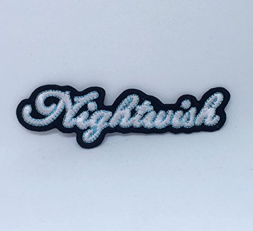Nightwish Metal Rock Band Logo Iron Naai op Geborduurde patch