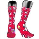 Calcetines de compresión Snoopy calcetines de fútbol altos calcetines largos deportivos al aire libre para hombres y mujeres