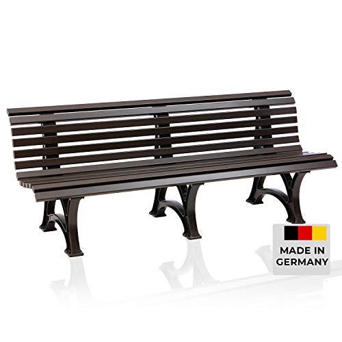 Blome Sitzbank Borkum – Gartenbank für Garten, Balkon, Terrasse, Parkbank in braun, 4-Sitzer, Made in Germany