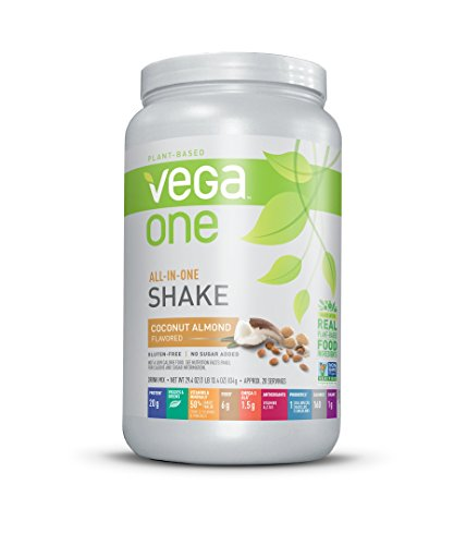 Vega One All-In-One Nutrition Shake Plant Based Protein Powder, Coconut Almond,20 servings,net weight 29.4 ounce