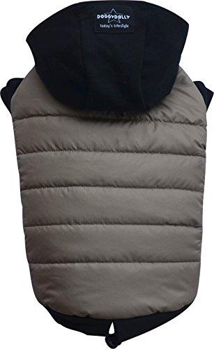 Doggy Dolly W399 Manteau imperméable à capuche pour chien Cappuccino/noir (XS poitrine 31-33 cm dos 18-20 cm)