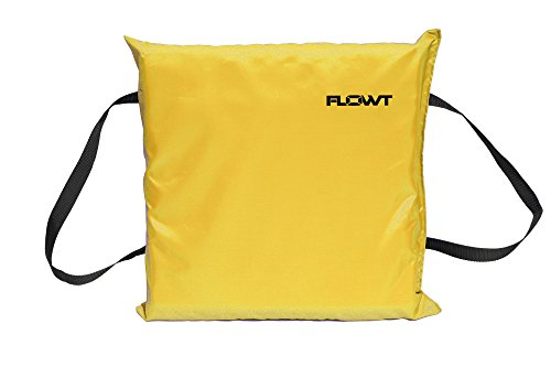 Flowt 40103 Type IV Throwable Floatation Foam Cushion, USCG Approved, Yellow