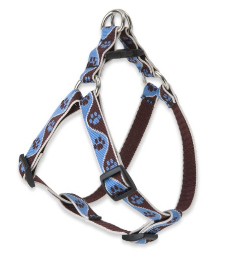 LupinePet Originals 3/4' Muddy Paws 15-21' Step In Harness for Small Dogs