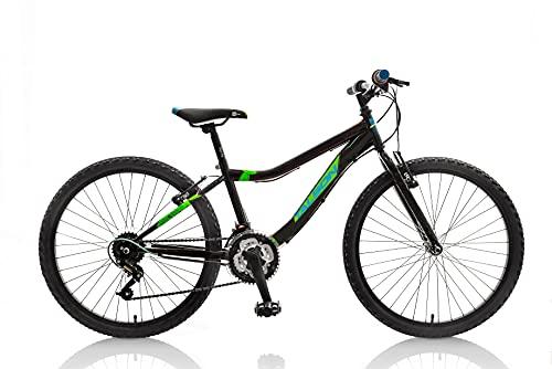 TALSON 24 Zoll Fahrrad Catcher mit 18 Gang Schaltung Schwarz-Grün